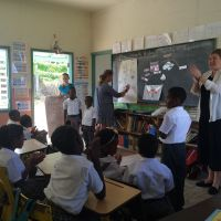 Montserrat 2015. GABBY creators Jan Dolby and Joyce Grant held writing workshops at three primary schools image