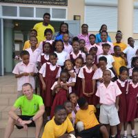 St. Kitts & Nevis 2015. Students and staff of Elizabeth Pemberton Public School, Gingerland, Nevis. image