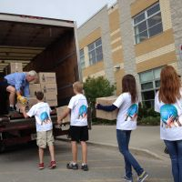 Loading up at Algonquin Ridge Elementary School in Barrie, ON. image